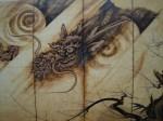 龍虎図屏風(黒龍)